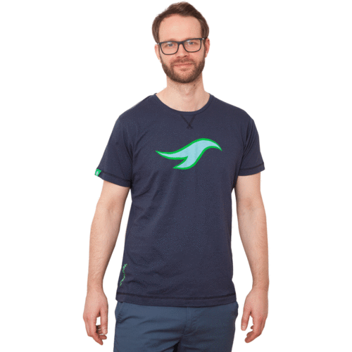 MANUKAU - Tee Shirt O-Neck - Pacific Blue