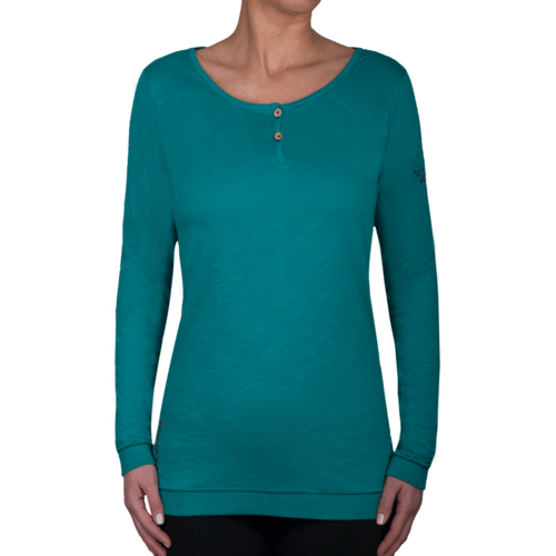 RIWAKA - Long Sleeve Tee Shirt - Lagoona Green