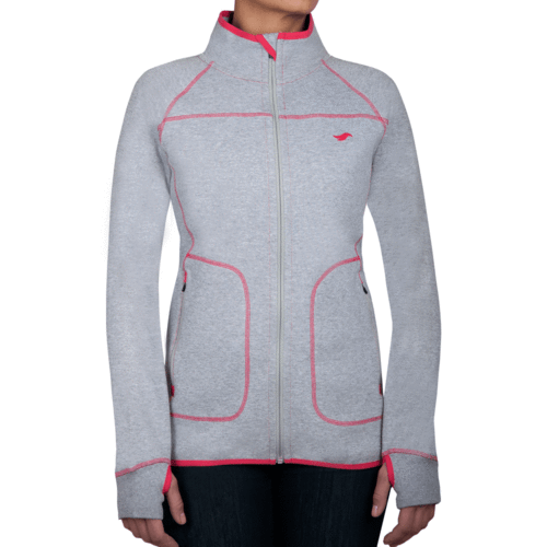PIHA - Zipper Jacket - Granite Grey Melange