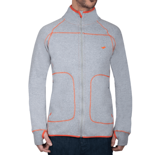 WHANGANUI - Zipper Jacket - Granite Grey Melange