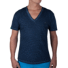 TAUPO Stripes - Tee Shirt V-Neck - Navy